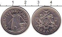 Изображение Дешевые монеты Барбадос 25 центов 2008 Медно-никель XF