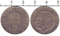 Изображение Барахолка Швеция 1 крона 1979 Медно-никель XF