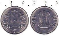 Изображение Барахолка Индия 2 рупии 2011 Медно-никель XF