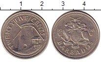 Изображение Дешевые монеты Барбадос 25 центов 1996 Медно-никель XF