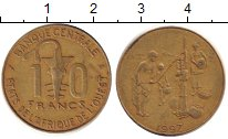Изображение Барахолка Франция 10 франков 1997 Латунь XF