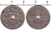 Изображение Барахолка Норвегия 1 крона 1999 Медно-никель XF
