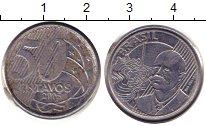 Изображение Дешевые монеты Бразилия 50 сентаво 2005 Медно-никель XF