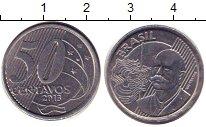 Изображение Дешевые монеты Бразилия 50 сентаво 2013 Медно-никель XF