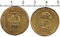 Изображение Дешевые монеты Доминиканская республика 1 песо 1992 Латунь XF-