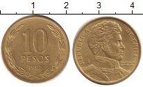 Изображение Дешевые монеты Чили 10 песо 1997 Латунь XF-