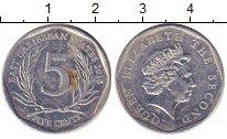 Изображение Дешевые монеты Карибы 5 центов 2010 Медно-никель XF+