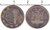 Изображение Барахолка Намибия 5 центов 1993 Медно-никель XF