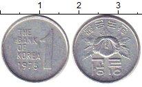 Изображение Барахолка Корея 1 янг 1975 Медно-никель XF-