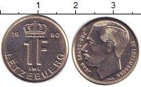 Изображение Барахолка Люксембург 1 франк 1990 Медно-никель VF+