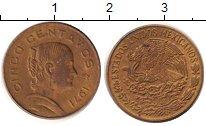 Изображение Дешевые монеты Мексика 20 сентаво 1971 Медь XF
