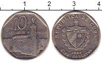 Изображение Дешевые монеты Куба 10 песо 1994 Медно-никель XF