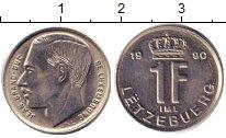Изображение Дешевые монеты Люксембург 1 франк 1990 Медно-никель XF