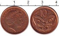 Изображение Дешевые монеты Новая Зеландия 10 центов 2007 Медь XF-