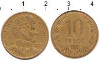 Изображение Дешевые монеты Чили 10 песо 1965 Медь XF-