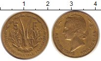 Изображение Монеты Западная Африка 5 франков 1956 Латунь XF Протекторат  Франции