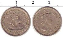 Изображение Монеты Карибы 10 центов 1961 Медно-никель XF