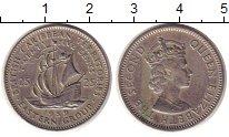 Изображение Монеты Карибы 25 центов 1959 Медно-никель XF