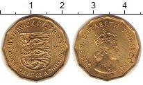 Изображение Монеты Остров Джерси 1/4 шиллинга 1966 Латунь UNC-