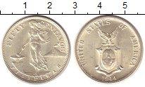 Изображение Монеты Филиппины 50 сентаво 1944 Серебро UNC- Американская админис