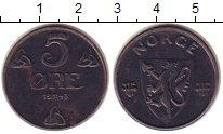 Изображение Монеты Норвегия 5 эре 1943 Железо XF