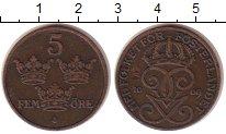Изображение Монеты Швеция 5 эре 1909 Бронза XF