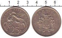Изображение Монеты Ямайка 25 центов 1987 Медно-никель XF