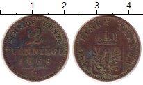 Изображение Монеты Германия Пруссия 2 пфеннига 1868 Медь VF