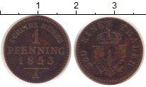 Изображение Монеты Германия Пруссия 1 пфенниг 1853 Медь VF