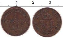 Изображение Монеты Германия Пруссия 1 пфенниг 1867 Медь XF