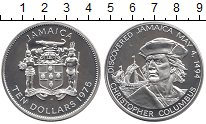Изображение Монеты Ямайка 10 долларов 1975 Серебро Proof-