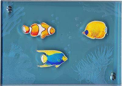 Изображение Подарочные наборы Вануату Аквариум - Тропические рыбки 2006 Серебро Proof