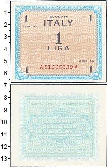 Изображение Банкноты Италия 1 лира 1943  XF