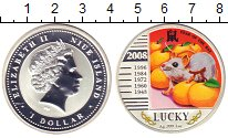 Изображение Монеты Ниуэ 1 доллар 2008 Серебро