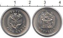 Изображение Монеты Родезия 5 центов 1976 Медно-никель UNC Пламенная  лилия  гл