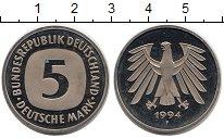 Изображение Монеты ФРГ 5 марок 1994 Медно-никель UNC