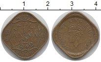 Изображение Монеты Индия 1/2 анны 1942 Медно-никель XF