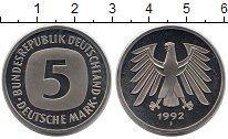 Изображение Монеты ФРГ 5 марок 1992 Медно-никель UNC