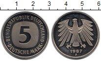 Изображение Монеты ФРГ 5 марок 1987 Медно-никель UNC