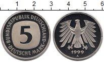 Изображение Монеты ФРГ 5 марок 1999 Медно-никель UNC