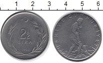 Изображение Монеты Турция 2 1/2 лиры 1964 Никель XF