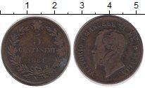 Изображение Монеты Италия 5 сентим 1861 Бронза VF