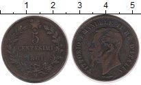 Изображение Монеты Италия 5 сентесимо 1861 Бронза VF