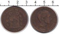 Изображение Монеты Испания 10 сентимо 1879 Бронза VF