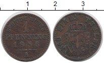 Изображение Монеты Пруссия 1 пфенниг 1856 Медь XF