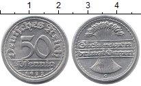 Изображение Монеты Веймарская республика 50 пфеннигов 1922 Алюминий UNC- G