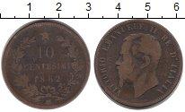 Изображение Монеты Италия 10 сентесим 1862 Бронза VF