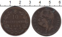 Изображение Монеты Италия 10 сентесимо 1894 Бронза VF