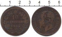 Изображение Монеты Италия 10 сентесим 1863 Бронза VF