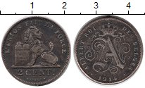 Изображение Монеты Бельгия 2 сентима 1914 Бронза XF
